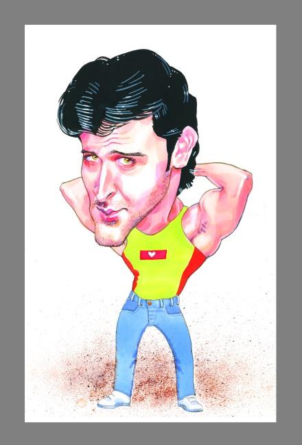 My SUPER Hrithik Roshan Caricature